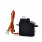 2g Plastic Analog Servo for RC Model Toy - Black (DC 2.5~4.8V)