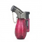 Windproof Butane Gas Jet Lighter - Wine Red + Black