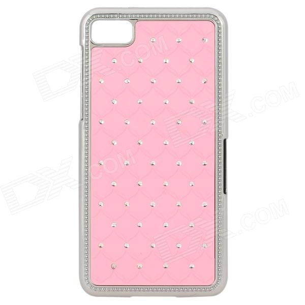Flower Pattern Protective Plastic Back Case for Blackberry Z10 - Pink + Silver printio чехол для blackberry z10