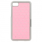 Flower Pattern Protective Plastic Back Case for Blackberry Z10 - Pink + Silver
