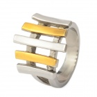 6-10 Cool Stainless Steel Ring for Men - Golden + Silver