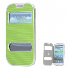 Football Patterns Protective PC + Artificial Leather Case for Samsung i9300 / i9308D - Green