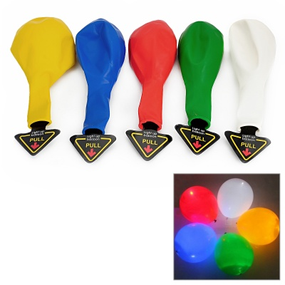 Colorful White LED Light Up Balloon - Multicolored (2 x CR2032 / 5PCS)