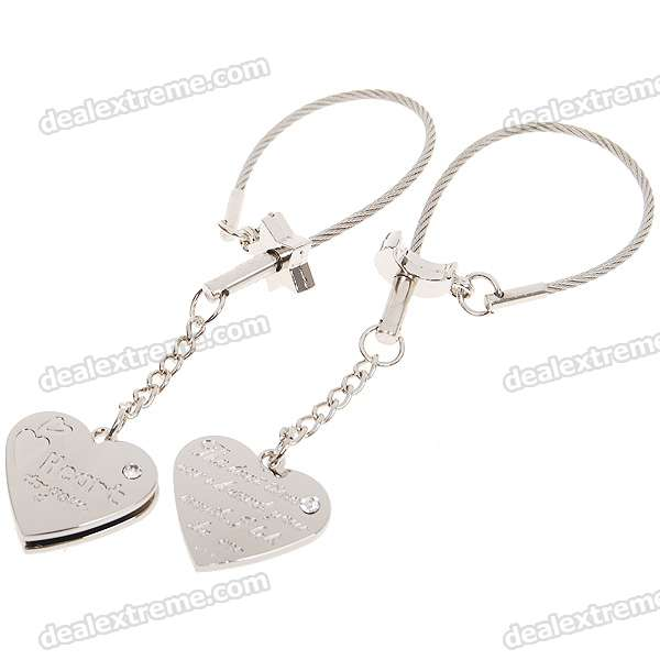 Funny Prank Stainless Steel Plug-and-Play Couple's Puzzle Keychains (2-Piece Set)