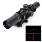 1.5~4X Magnification Gun Aiming Scope Sight w/ 6-Rail Mount - Black (1 x CR2032)