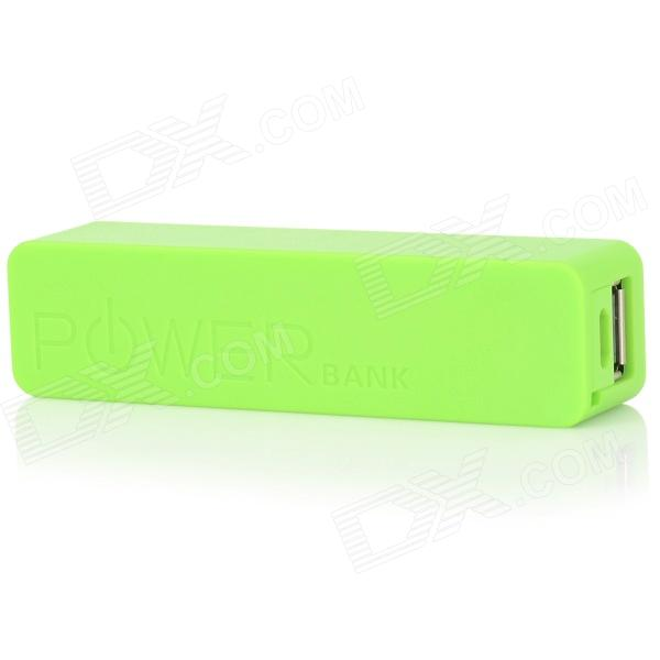 Perfumado Mini 5V 2200mAh portátil Power Bank plástico para Celular / DV / MP3 / MP4 + More - Verde