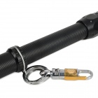 YP-9316 Cree XP-E Q5 100~200lm 5-Mode White Zooming Flashlight - Black (1 x 18650 / 3 x AAA)