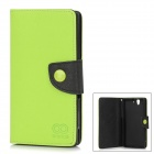 Protective PU Leather + TPU Flip-Open Case for Sony L36H - Green + Black