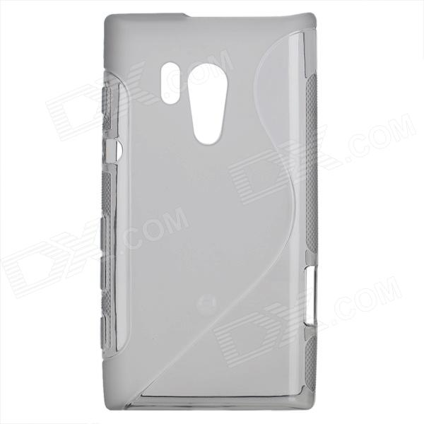 S-shape Pattern Protective TPU Back Case for Sony Xperia acro S LT26W - Translucent Grey highscreen аккумулятор для easy s easy s pro 2200 mah