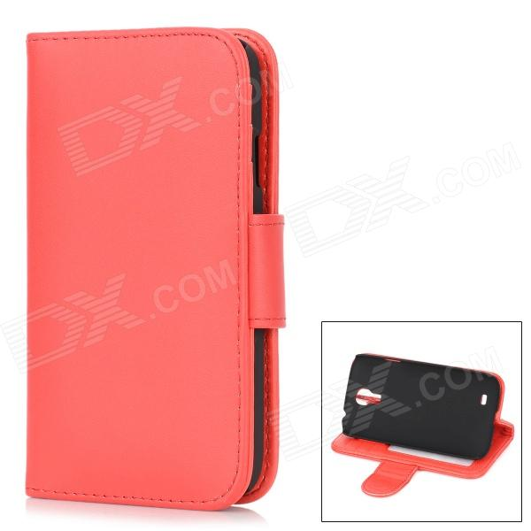 Stylish Protective PU Leather Case for Samsung Galaxy S4 i9500 - Red