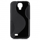 S Pattern Protective TPU Back Case for Samsung Galaxy S4 i9500 - Black