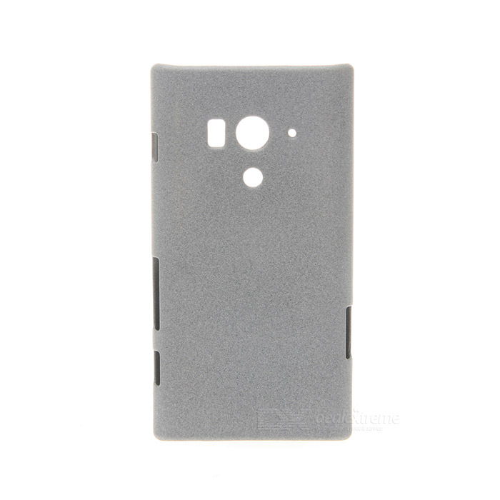 Ultrathin Protective Frosted Plastic Back Case for Sony Xperia Acro S LT26W - Grey