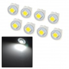T10 0.3W 10lm 1-SMD 5050 LED White Light Car Clearance lamps - (DC 12V / 8 PCS)