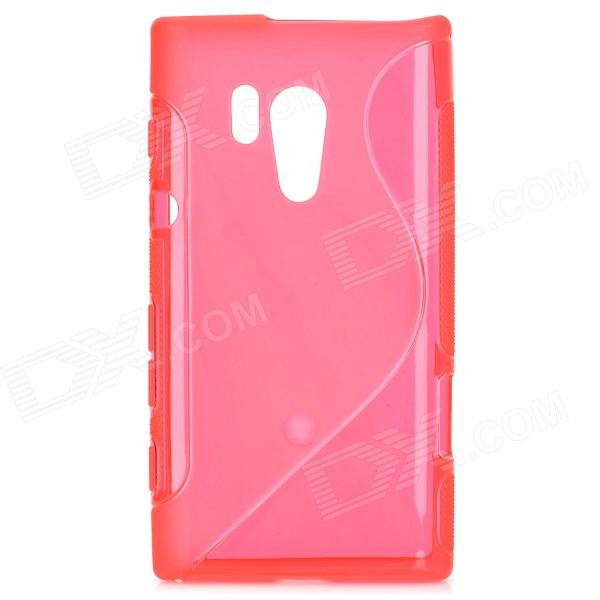 Protective Soft TPU Back Case for Sony Xperia Acro S LT26W - Red мобильный телефон ginzzu mb505 черный