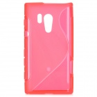 Protective Soft TPU Back Case for Sony Xperia Acro S LT26W - Red