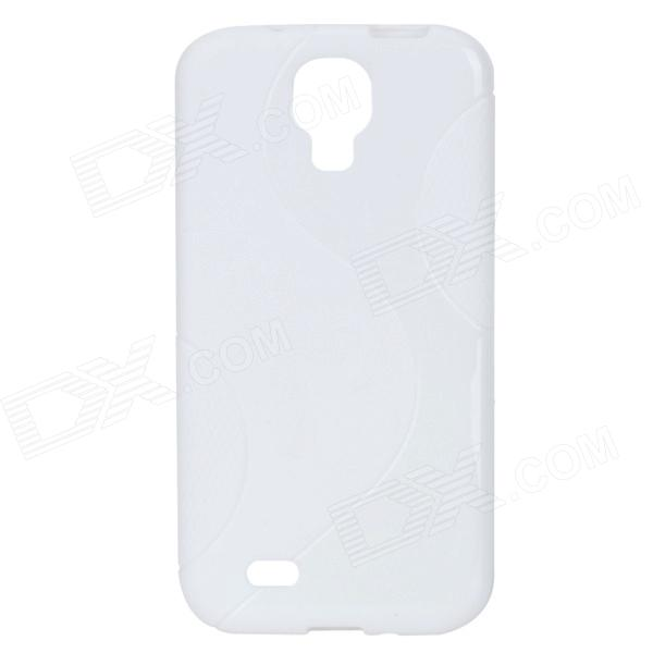 S Pattern Protective TPU Back Case for Samsung Galaxy S4 i9500 - White protective cute spots pattern back case for samsung galaxy s4 i9500 multicolored