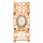 Fashion Bracelet Style Hollow Out Quartz Wrist Watch for Women - Golden (1 x LR626)