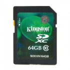 KINGSTON SDX10V SD Flash Memory Card - Black (64GB / Class10)