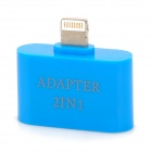 2-in-1 30-Pin / Micro USB Female Lightning 8-Pin Adapter - Blue