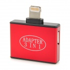 30-Pin / Mini 5-Pin / Micro 5-Pin Female to Lightning 8-Pin Male Adapter for iPhone 5 - Red