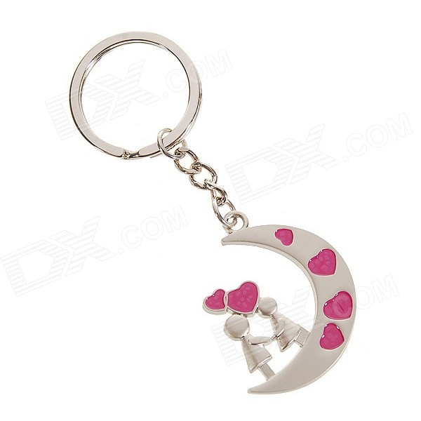 Stainless Steel New-Moon-Love-Spell Keychain