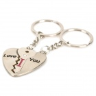 Stainless Steel Lock-and-Key Couple's Keychains (Assorted 2-Piece Set)