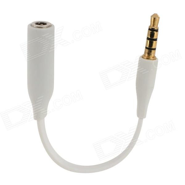 Mosidun 3.5mm Male to Female Audio Cable for Iphone - White