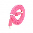 DS-8 Flat Lightning 8-Pin Male to USB 2.0 Male Cable for iPhone 5 / iPad 4 - Deep Pink (100cm)