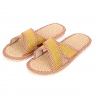 HQS-G101222 Fiberflax Slippers for Men - Yellow (Size 44~45)