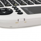 UKB-500-FR 2.4GHz Wireless Mini Air Mouse  teclado 92- tecla - Branco + Preto