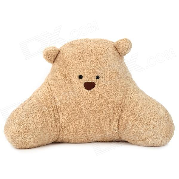 645-3 Cartoon Bear Style Plush + PP Cotton Waist Cushion / Pillow - Beige + Brown + Black cartoon rabbit brown bear cat plush toys doll waist cushion and pillow cushion for automobile