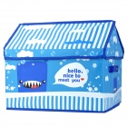 Creative House Style 420D Canvas + Non-woven Fabric Storage Case - Deep Blue + Skyblue + White + Red