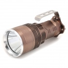UltraFire 450lm 5-Mode White Crown Head Flashlight w/ Cree XM-L T6 - Brown + Silver (2/4 x 18650)