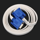 VGA Male to Male Connection Cable - White + Blue (180CM)
