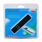PP990 2.4GHz Rechargeable Li-ion Battery Page Turning Red Laser Pen / Presenter - Black + White