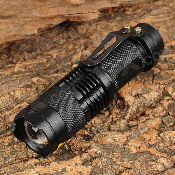 UltraFire SK68 80~150lm 3-Mode White Zooming Flashlight w/ Cree XR-E Q5 - Black (1 x AA / 14500) singfire sf 117e 180lm 3 mode white zooming flashlight w cree xr e q5 red 1 x aa 14500