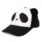 HQS-G101128 Cute Panda Pattern Peaked Cap for Kids - Black