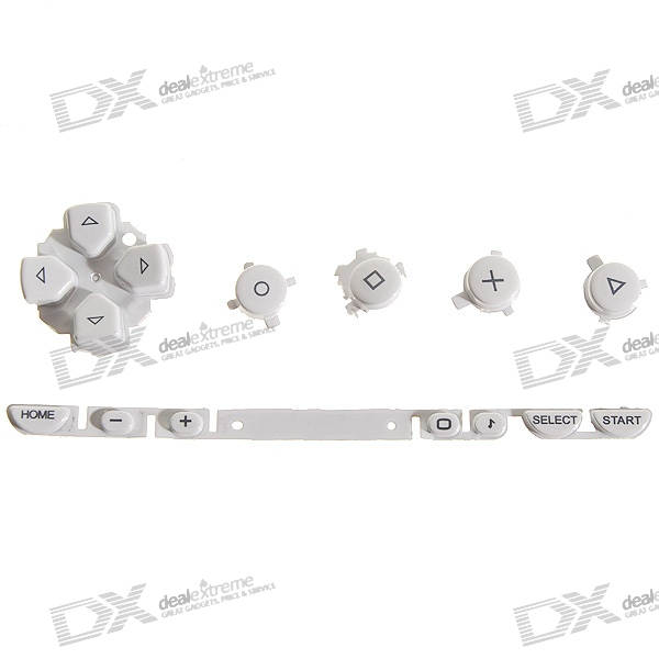 Repair Parts Replacement Buttons for PSP Phat/1000 (White)