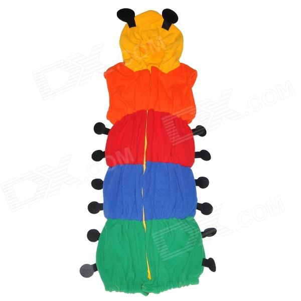 Caterpillars Style Fleece + Cotton Dual-layer Sleeping Bag / Clothes for Baby - Multicolored