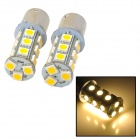 115650-18WN 1156 3.5W 200lm 3000K 18-SMD 5050 LED Warm White Car Brake / Steering Lights (2 PCS)