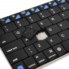Ultra-thin Mini Bluetooth v3.0 Wireless Rechargeable 80-key Keyboard - Black + Silver