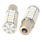 11561210-120Y 1156 9W 500lm 580nm 120-SMD 3528 LED Yellow Light Car Lamps - (DC 12V / 2 PCS)