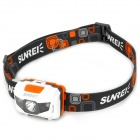 SUNREE Outdoor 122lm 4-Mode White Light Fishing Lamp w/ 3-Cree XP-E LED - White + Grey + Orange