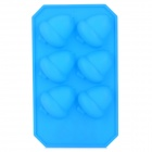 GEL03002 DIY 6-Cup Acorn Style Silicone Kitchen Ice Food Mold - Blue