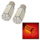 1157 / BY15D 9W 500lm 120-SMD 3528 LED Red Light Car Steering / Brake / Tail / Headlamp Bulb (Pair)