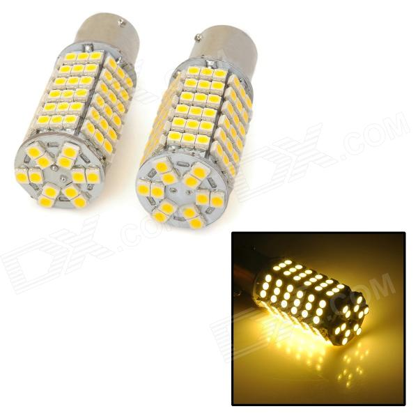 11561210-120W 1156 / BA15S / P21W 9W 500lm 120-SMD 3528 LED Warm White Car Light Lamp - (12V / Pair)