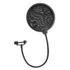 TEYUN PS-1 Dual Side PC + Hierro Pop Filter / escudo para Micrófono Grabación - Negro
