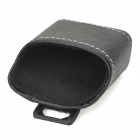 P3101 Car Hanging Type PU Leather Multi-pocket Holder for Cellphone - Black