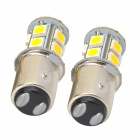 115750-13WN 1157 2.3W 250LM 13-SMD 5050 LED Warm White Light Lámparas de coches - (DC 12V / 2 PCS)