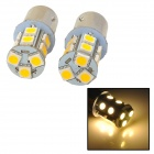115650-13WN 1156 / BA15S / P21W 2.3W 250lm 13-SMD 5050 LED Warm White Light Car Lamps - (12V / Pair)